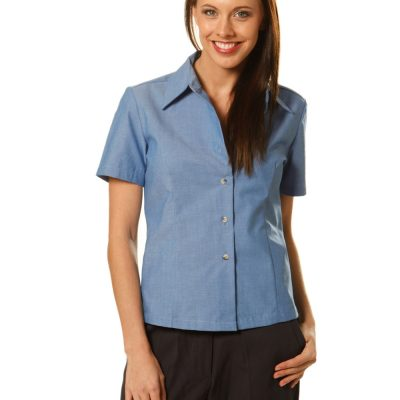 Ladies w/f S/S chambray shirt