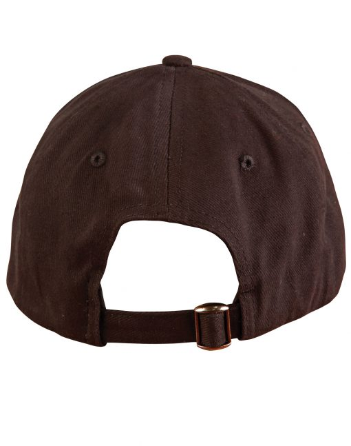 Heavy brushed cotton cap buckle on back