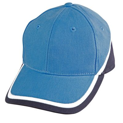 Tri-color sue heavy brushed cotton cap