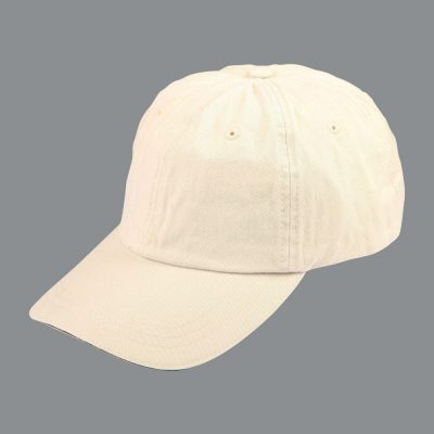 Washed polo cotton unstructured cap sandwich cap