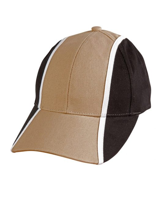 H/B/C tri-color baseball cap