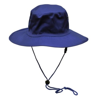 Surf hat with clip on chin strap