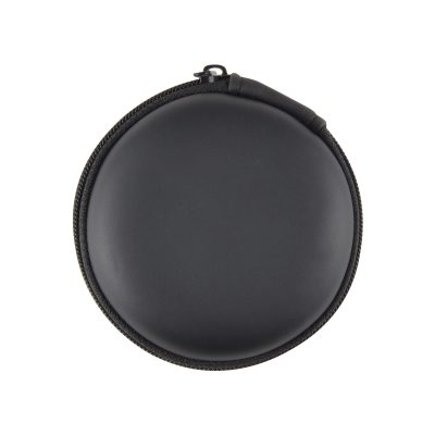 Earbud / Headphone Set in Round EVA Zippered Case