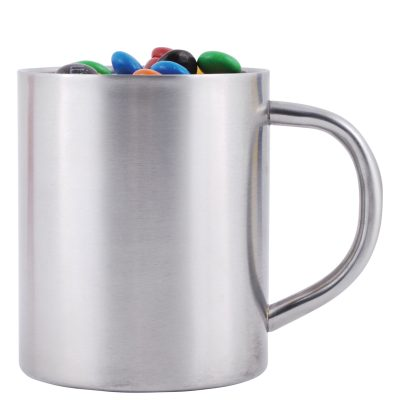 M&M's in Double Wall Stainless Steel Barrel Mug