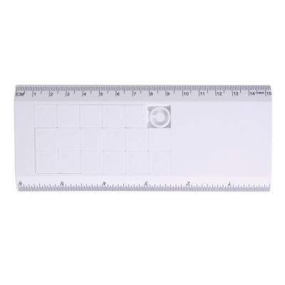 White Sliding Tile Ruler Puzzle