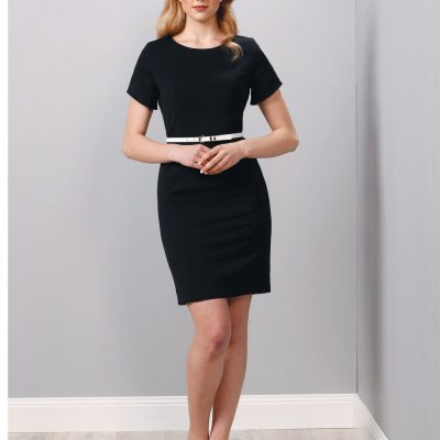 Ladies' Poly/Viscose Stretch, Short Sleeve Dress