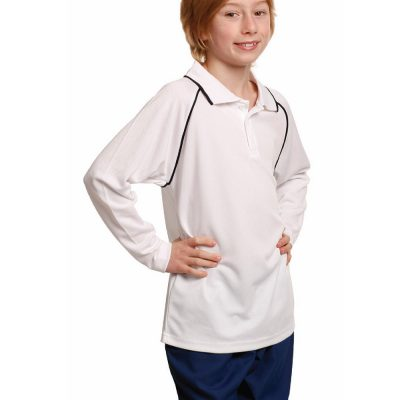 Kid's cooldry raglan L/S polo