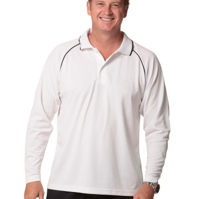 Men's cooldry raglan L/S polo
