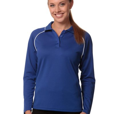 Ladies' cooldry raglan L/S polo