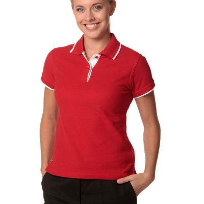 Ladies' Poly/Cotton Contrast Pique S/S Polo