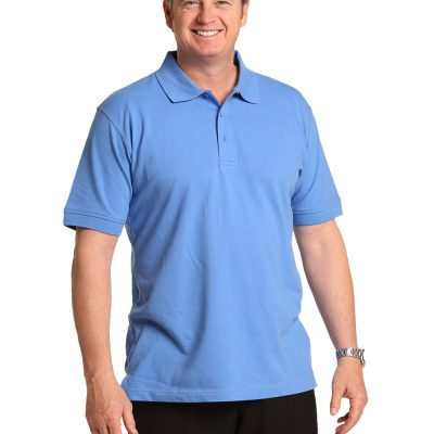 Men's cotton stretch polo
