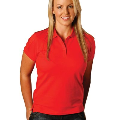 ladies cotton stretch polo