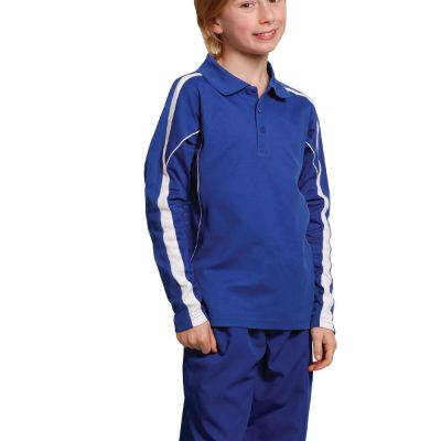Kids' TrueDry Long Sleeve Polo