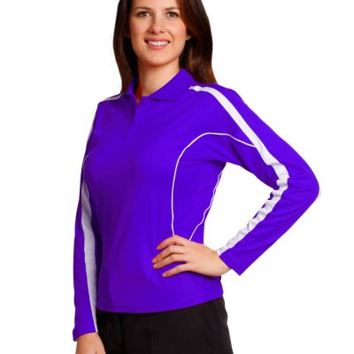 Ladies' TrueDry Long Sleeve Polo