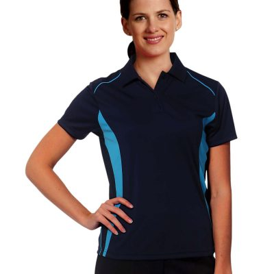 Ladies' Cooldry S/S Contrast Interlock Polo
