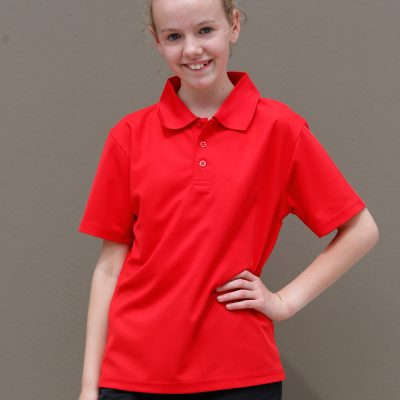Kids' Cooldry Pique Soild Colour S/S Polo