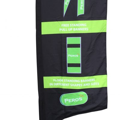 Small Premium Polyester Silk Feather Banner - Single Sided Combo
