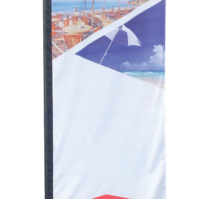 Large Rectangle Flag - Double Sided Combo