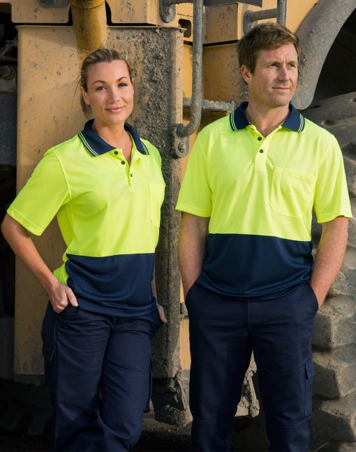 Hi-Vis cooldry safety polo S/S