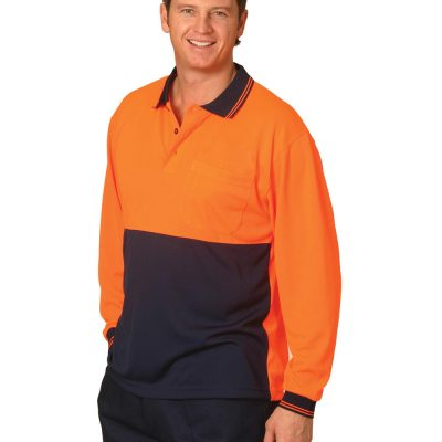 Hi-Vis cooldry safety polo L/S
