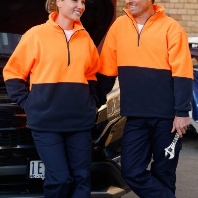 Hi-Vis polar fleece half zip pullover