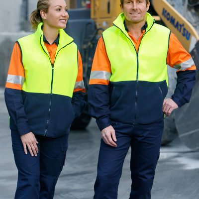 Hi-Vis two tone polar fleecy vest