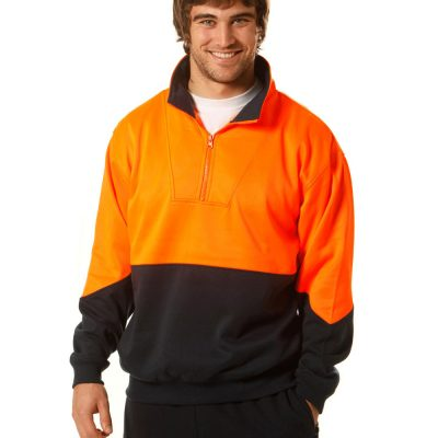 Hi-Vis L/S windcheater collar
