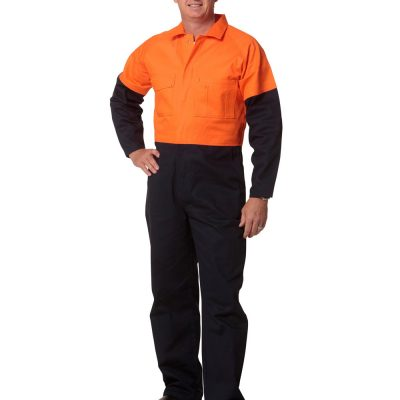 Hi-Vis Two Tone Men's Cotton Drill Coverall-Regular