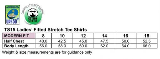 Ladies' fitted strch tee (200gsm)