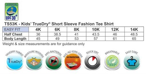 Kid's Truedry Fashion S/S T-shirt