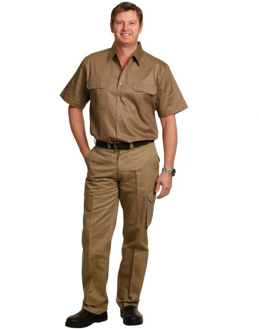 drill pant pocket on leg / regular fit