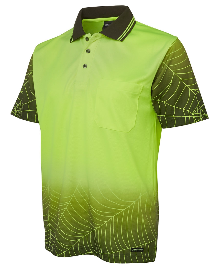 Embroidered polo shirt high vis Jb's wear
