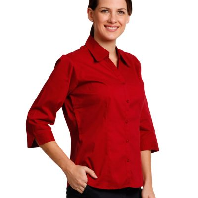 Ladies' 3/4 sleeve teflon shirt