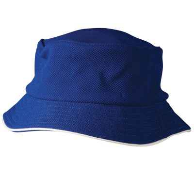 Pique mesh with sandwich trim bucket hat