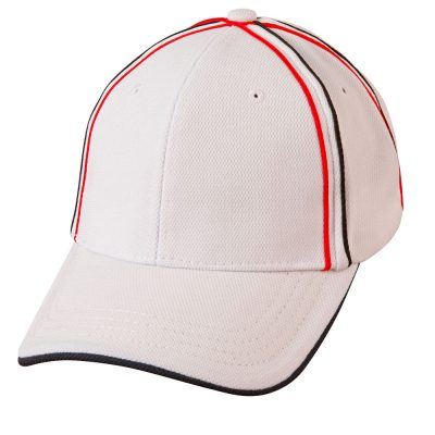 Tri-color pique mesh structured cap
