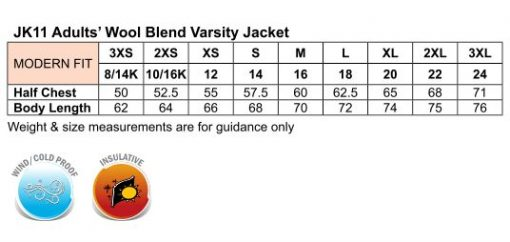 Adult's Wool Blend Varsity Jacket