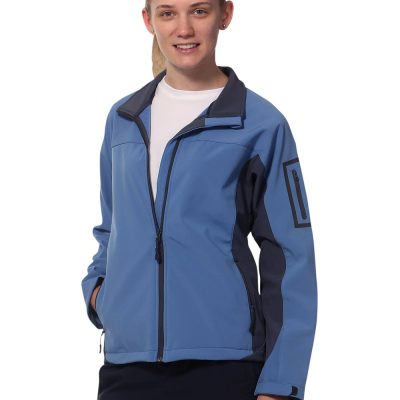 Ladies' Contrast Softshell Jacket
