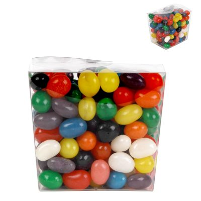 Assorted Colour Mini Jelly Beans in Clear Mini Noodle Box