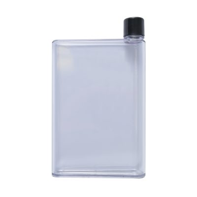 Transparent Flat Drink Bottle - 500ml