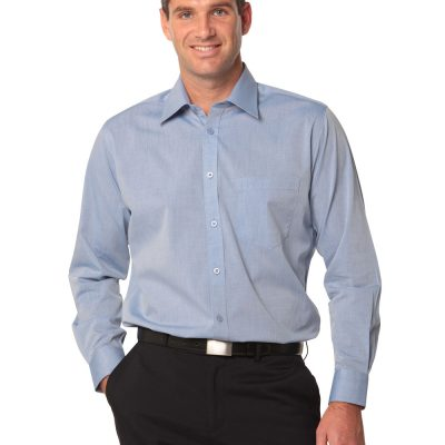 Men's Fine Chambray Long Sleeve Shirt