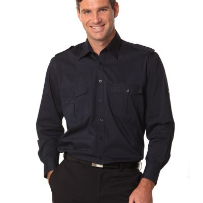 Men's Long Sleeve Military Shirt