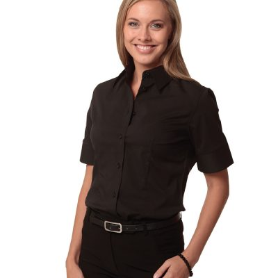 Women's Cotton/Poly Stretch S/S Shirt