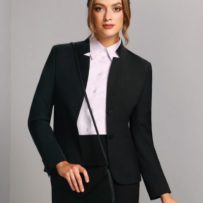 Ladies' Wool Blend Stretch Reverse Lapel Jacket