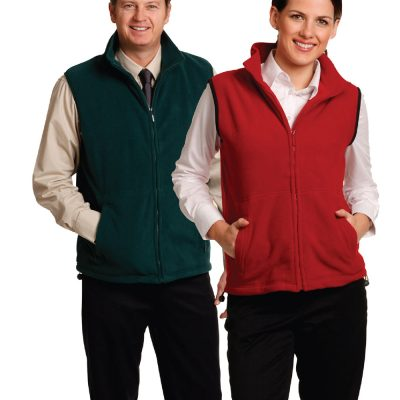 Unisex Polar Fleece Vest.