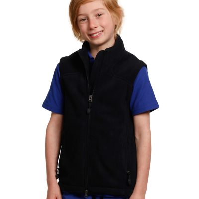 Kids' bonded polar fleece vest
