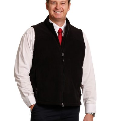 Man's bonded polar fleece vest