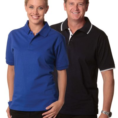 unisex cotton jersey polo