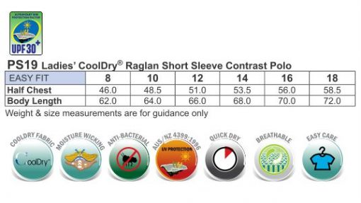 ladies cooldry raglan S/S polo