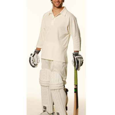 Mens 3/4 sleeve cricket polo