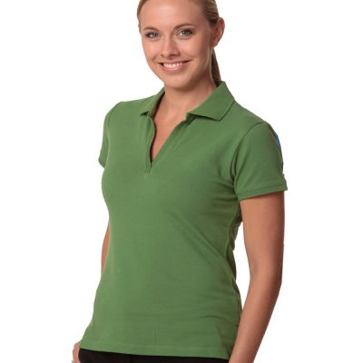 ladies S/S pique polo